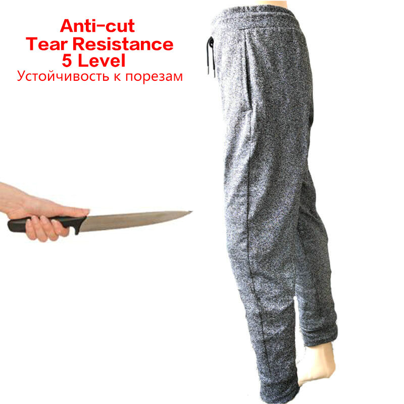 5-level Anti-cutting Pants T Shirt Cut Proof Glass Factory Outdoor Self-defense Wear-resistant Anti-shear Pants Clothing Suit