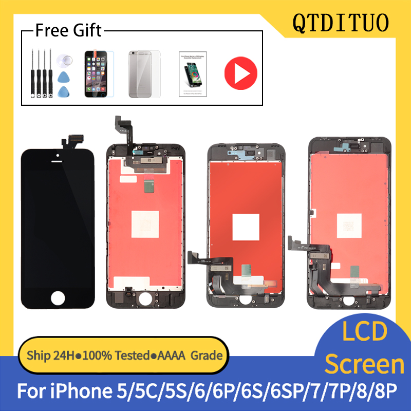 AAAA++++ for iPhone 6 6S 7Plus 8 Plus LCD Display with Perfect 3D Touch Screen Digitizer Assembly For iPhone 4S 5 5S 5C Screen(China)