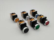 Interruptor momentâneo de ligar/travamento do botão 22mm 4 parafusos circular tamanho pequeno recorte liso do painel redondo LA38-11 LA38-11BN