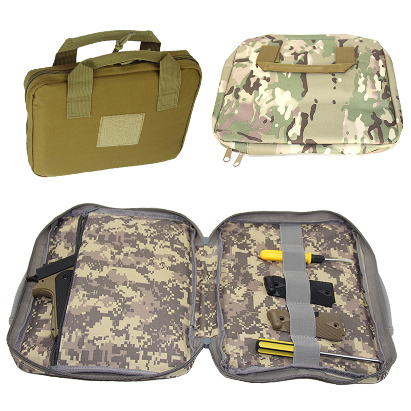 Pistol Carry Bag Tactical Portable Military Handgun Holster Pouch Durable Hand Gun Soft Case Portable Gun Hunting Accessories