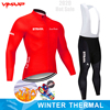 Inverno velo térmico 2020 strava ciclismo jérsei longo conjunto mtb roupas de ciclo roupas esportivas mountain bike ropa ciclismo 9