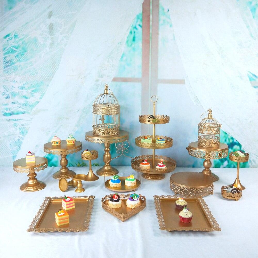 Tobs Cupcake Tower Stand Wedding Cake Stand Decor Bakeware Supplies Wedding Set Decor Tray Metal Round Party Dessert Display