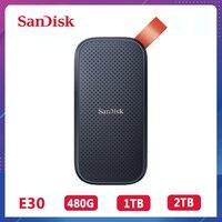 SanDisk Extreme Tragbare SSD 520 MB/s Externe Festplatte USB 3,1 Typ-C 480GB 1TB 2TB solid State Disk Für Laptop Desktop