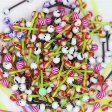 Bulk Wholesale 80 pcs Women Colorful  Ball Barbell Tongue Piercing Ring Body Jewelry Gifts