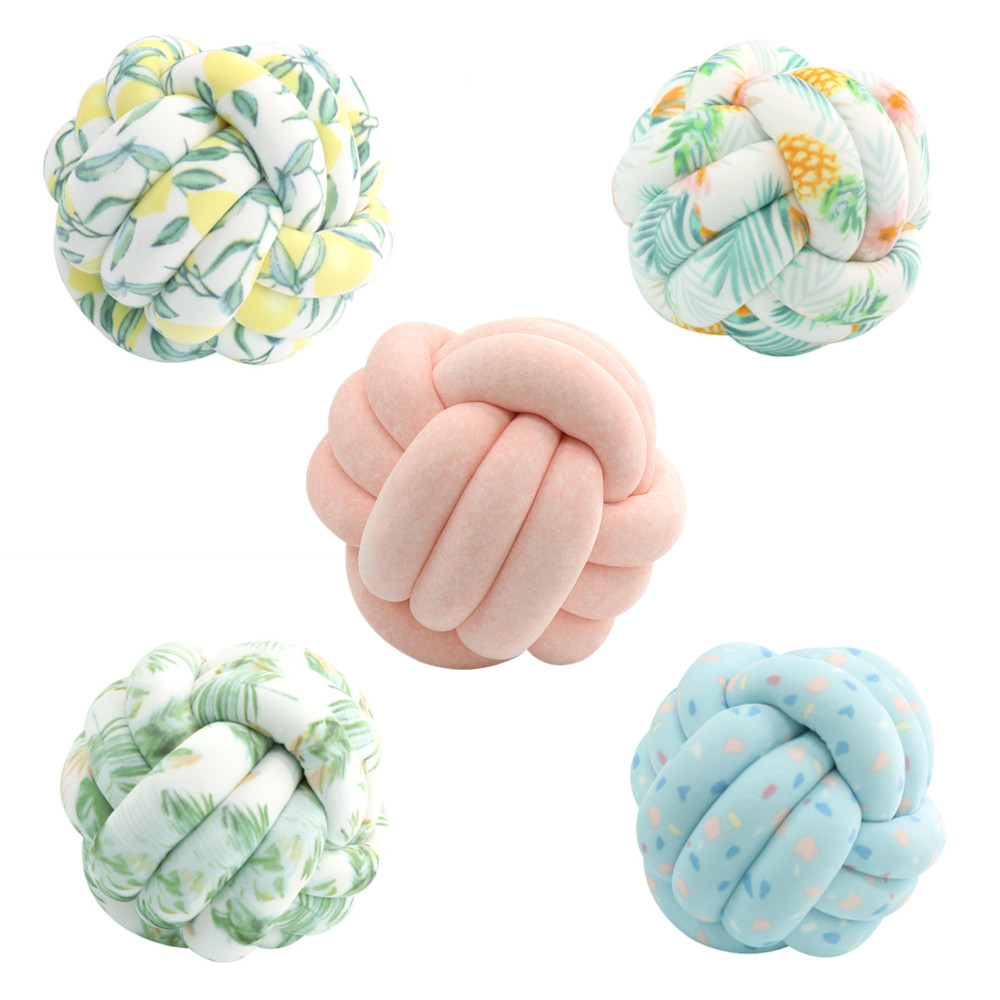 30cm Handmade Nordic Style Velvet Knot Ball Pillow Baby Sofa Cushion Baby Stuffed Toy Kids Adult Bedroom Decoration Car Cushions