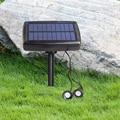 2 шт. теплый белый свет панели солнечных батарей Солнечные прожекторы наружное освещение пейзаж двора садовое дерево отдельно лампа