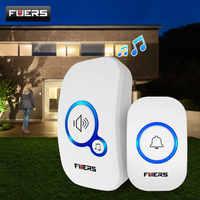 Fuers Wireless Doorbell Welcome bell Home Chime Door bell Alarm 32 Songs Smart Doorbell EU Plug doorbell ring Waterproof Button