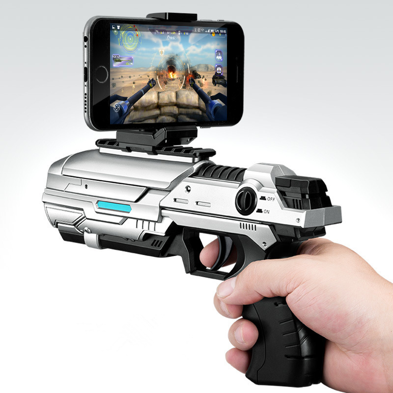 AR Game Gun Mobile Smart Bluetooth 4D Somatosensory Shooting Kid's Toys