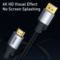 Baseus Displayport to HDMI-compatible Cable 4K 30Hz DP to HDMI-compatible Cable For Laptop Projector TV Display Port 4K HD Cable