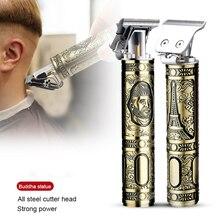 Беспроводные триммеры для волос USB клипер профессиональная машинка для стрижки волос портативный триммер для бороды стайлер для волос ножн...