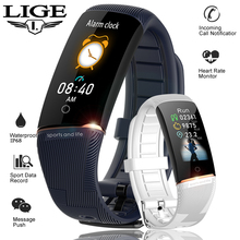 LIGE 2019 New Smart Bracelet OLED Color Display Wristband Heart Rate monitor Fashion Fitness Tracker Men Sport Watch