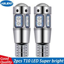 Aslent alta qualidade t10 w5w 168 192 led luz da cauda 3030 10smd 12v para carro conduziu a lâmpada automóvel canbus nenhum erro marcador de carro estacionamento lâmpada