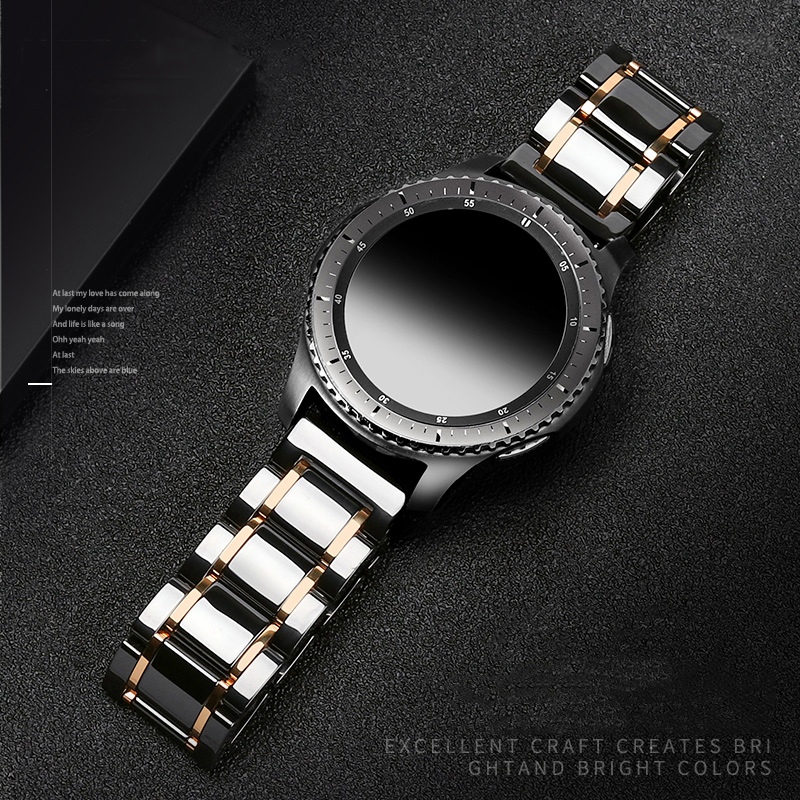 22mm Ceramic Band For Samsung Galaxy Watch 46mm Strap Gear S3 Frontier Watchband Bracelet Huawei Watch GT 2 Strap 46 GT2 22 Mm