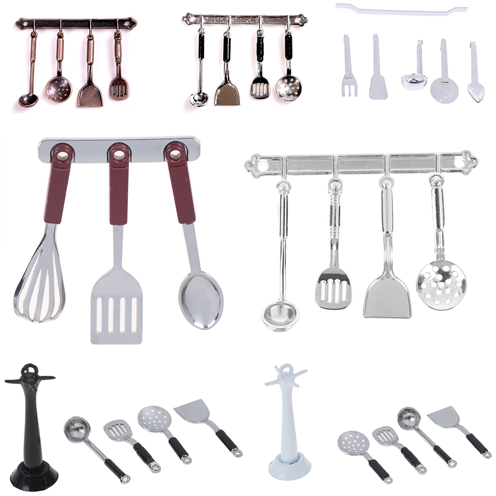 One Set 1:12 Miniature Kitchenware Cook Tools Doll House Accessories