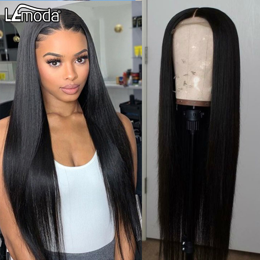 Парик женский из натуральных волос, 30 дюймов, 4 х4