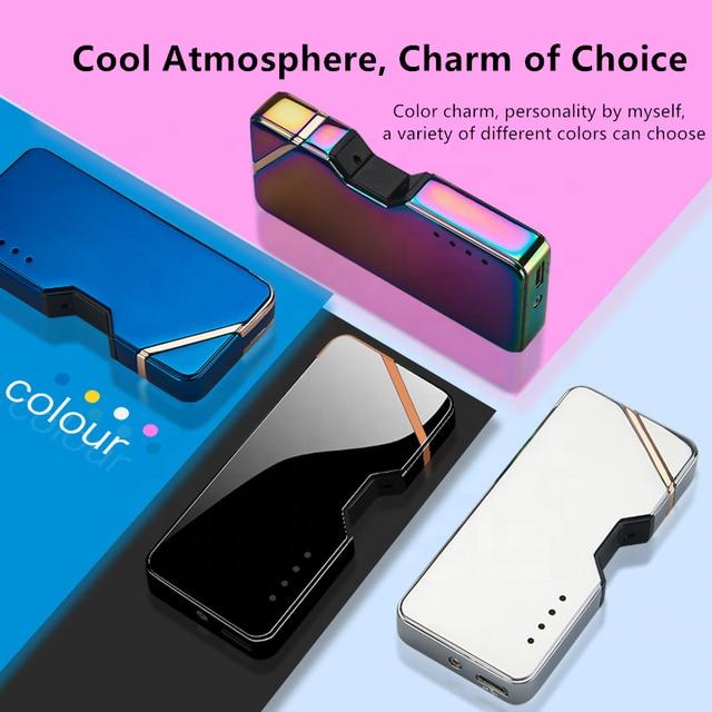 Laser Unusual Plasma Lighter Electric USB Windproof Flameless Cigarette Lighters Gadgets For Men Technology Dropship Suppliers 5