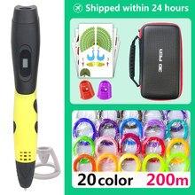 Stylos dimpression 3d 3d, stylo dimpression créative 3d 3d, Filament ABS/PLA 1.75mm, cadeau de nouvel an, anniversaire pour enfants, noël, stylo créatif