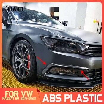 For Volkswagen Passat B8 Variant Arteon 2016-2020 Silver Black Exterior Headlight Eyebrow Cover Trims Front Light Lamp Frames 1