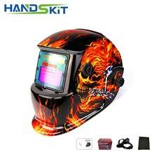 Handskit Солнечные авто затемнение Регулируемые очки светофильтр электрические сварочные маски шлемы сварочные линзы для MMA пайки