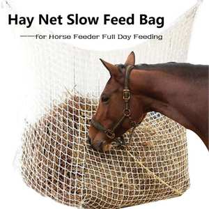 Horse straw bag hay bag equestrian harness supplies small hole woven mesh cloth large