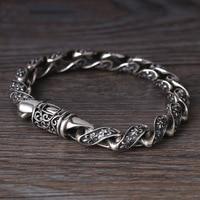 Wholesale S925 Sterling Silver Fashion Retro Thai Silver men's Boat Anchor Pattern Personality Trend Bracelet Twist Ring