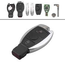 434MHz 2 Buttons Car key Keyless Uncut Flip Remote Key Fob with NEC&BGA Key Shell Replacement Case for Mercedes BENZ 2000+ 3 button remote car key shell case uncut blade replacement key fob for mercedes benz smart fortwo 450 keyless entry case