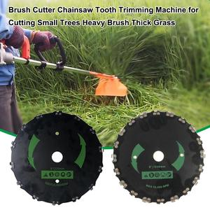 Lawn Mower Trimmer Head Coil Chains Brushcutter Chainsaw Tooth Trimming Brush cutter Machine for Cutting Heavy Brush Thick Grass(China)