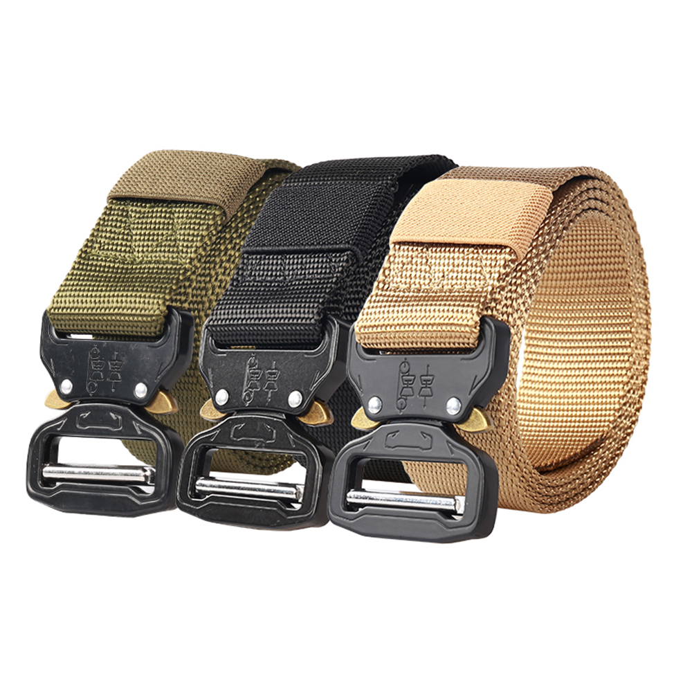 New 3.8 cm Cobra Tactical Belt Imitation Nylon Woven Belt Multifunctional Special Training Belt in Stock