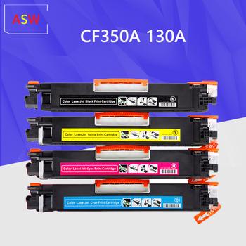 Kompatybilne kasety z tonerem CF350A CF350 350a CF351A CF352A CF353A 130A dla hp LaserJet Pro MFP M176n M176 M177fw M177 tanie i dobre opinie NoEnName_Null CF350A CF351A CF352A CF353A 130A Pełna Kaseta z tonerem Kompatybilny Black Cyan Yellow Magenta Black 35G Cyan Yellow Magenta 30G