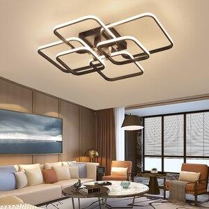 Image 5 - NEO Gleam APP Dimmable RC Led Chandelier For Living Room Bedroom Study Room 110V 220V Modern Led Chandelier Fixtures
