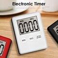 Сверхтонкий таймер с цифровым ЖК-дисплеем, домашний кухонный таймер для приготовления пищи для ленивых, домашняя работа, обратный отсчет дл...