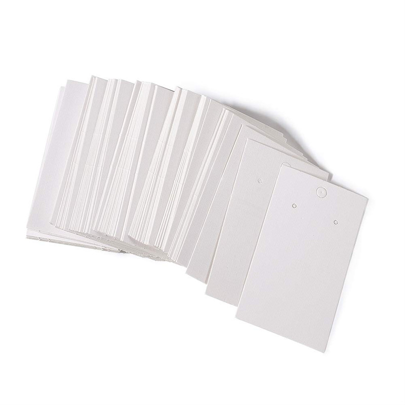 Pandahall 100pcs White Earring Paper Card Jewelry Display Marking Garment Prices Label Tags 90mm Long, 50mm Wide Wholesale F80
