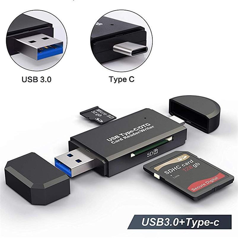 SD Card Reader USB 3.0 Card Reader Micro TF SD Type C Cardreader USB 2.0 Adapter Flash Drive Adapter Memory  Card Reader