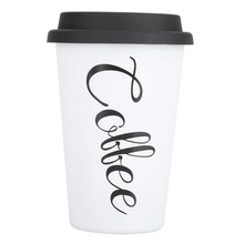 Eco-Friendly Reusable Stainless Steel Travel Mugs Silicone Lid Bone China Cups Travel Mug Tea Coffee new(China)