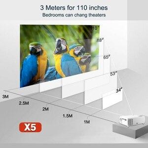 Image 5 - Potężne wsparcie 720P projektor X5 odtwarzacz multimedialny 3D kino domowe zagraj w grę USB podłącz telefon Laptop TF karta wideo Beamer Proyector