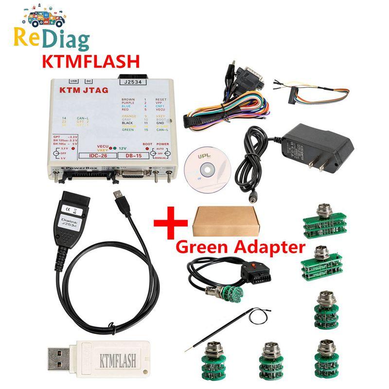 NEWLY KTMFLASH V1.95 ECU Programmer & Transmission Power Upgrade Tool KTM Flash DiaLink J2534 Cable