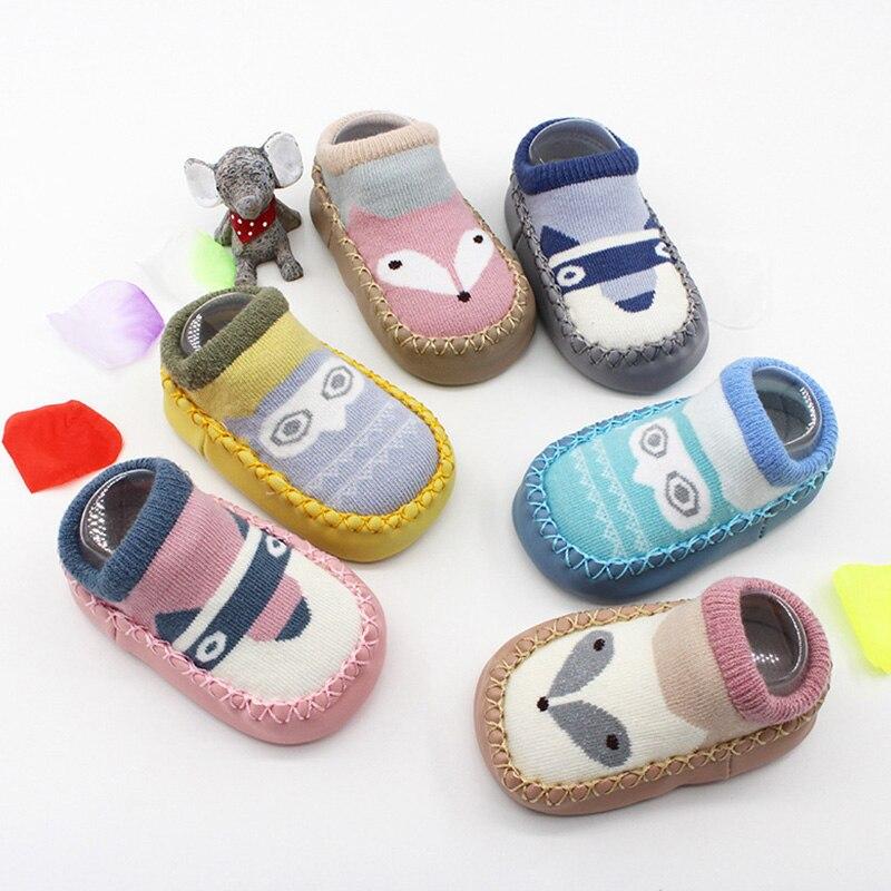 Cute Cartoon Animal Winter Autumn Newborn Baby Shoes Soft Cotton Anti Slip Toddler Shoes Newborn First Walkers Boy Girls Shoes