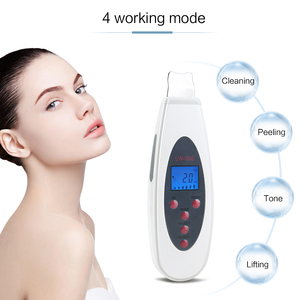 Image 4 - Ultrasonic Face Skin Scrubber Cleanser Face Cleansing Acne Removal Pore Peeling Tone Lift ultrasonic Clean Facial Massager