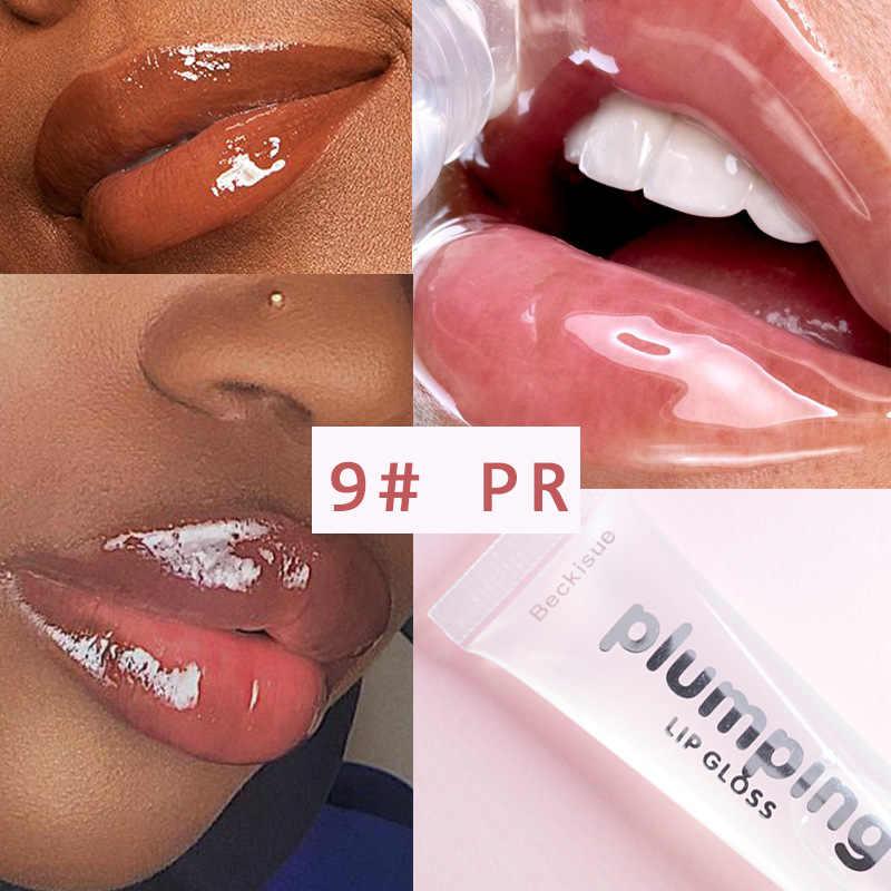 9 צבעים קריסטל ג 'לי גלוס לחות מבריק גליטר נוזל שפתון לטווח ארוך שמנמן נפח גוון שפתיים זיגוג TSLM2