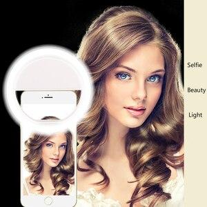 Image 4 - 휴대 전화 보충 빛 LED 반지 보충 빛 유물 아름다움 휴대 전화 셀프 타이머 조명 라이브 Photoflash