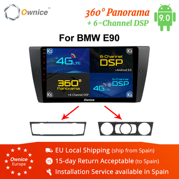 Ownice K1 K2 K3 K5 K6 Octa 8 Core Android 8.1 Car DVD Navigation for BMW E90 GPS Radio Head Uint Player 360 Panorama DSP 4G LTE image