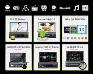 Image 2 - Radio con GPS para coche, radio con reproductor DVD, android 10, 1DIN, 7 pulgadas, HD, Bluetooth, USB, cámara trasera, unidad principal de coche, ESTÉREO