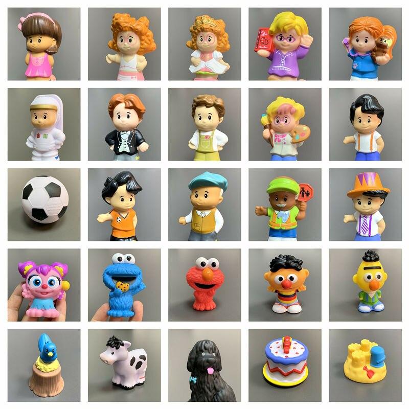 """2 """"fisher pouco mini pessoas boneca figura menino meninas zoo talkers animais dos desenhos animados boneca brinquedos crianças presente de natal"""