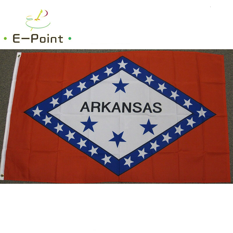 US <font><b>Arkansas</b></font> State Flag 2ft*3ft (60*90cm) 3ft*5ft (90*150cm) Size Christmas Decorations for Home Flag Banner image