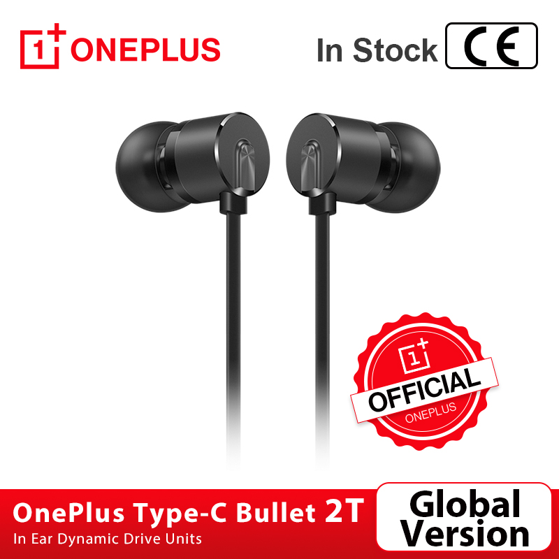 Global Version OnePlus Type-C Bullets Earphone 2T Bullets Wireless 2 T InEar Dynamic Drive Units 1 15m For Oneplus 8 Pro Nord 8T