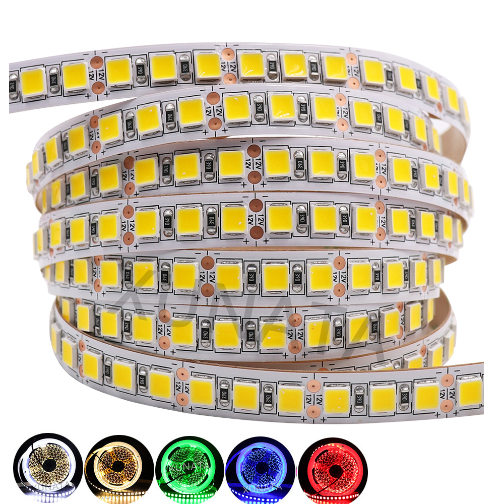 DC 12V 5050 RGB LED Strip 2835 LED Light Strip 5054 120LEDs/m Waterproof Flexible Tape LED Light Lamp For Indoor Decoration 5m