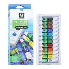 цена на 12 Colors 12ML Tube Acrylic Paint set Art Painting Drawing Tools For Kids DIY