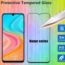 Tempered Glass 9D For Huawei honor 9X 9X Pro 8X 8A 8C 8S v20 v30 10 20 10i 20i 10 20 Lite Screen Protector Protective Glass film 2 in 1 full cover 9d tempered glass for huawei honor v30 v30 pro v20 screen protector