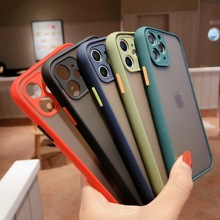 Camera Lens Protection Case For iphone 11 Po X XS Max XR Luxury Matte Bumper Hard PC Cover For iphone 6 6s 7 8 Plus SE2 Coque oppselve breath case for iphone x 7 6 6 s plus luxury ultra thin slim hard pc cover case for iphone x ix coque fundas capinhas
