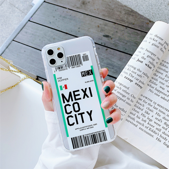 Famous World City Bar Code Soft Clear Phone Case for iPhone 11 Pro Xs Max iPhone XR X 6S 7 8 Plus London Paris Protective Cover